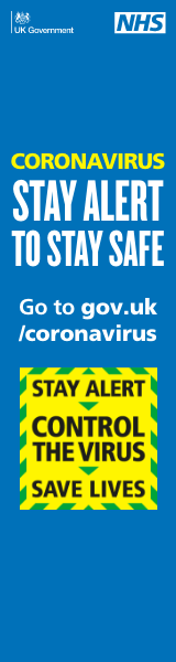 Coronavirus Stay Alert to stay safe goto gov.uk/coronavirus