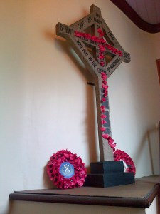 The Martinpuich Cross, currently hidden away on the east stairwell