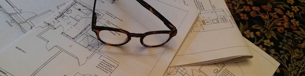 plans and glasses