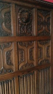 carved and linen fold oak paneling