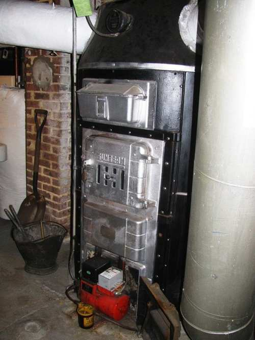 small resolution of american standard sunbeam old coal furnace gravity hot air