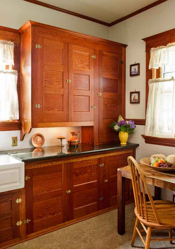 Restored Cabinets in a Renovated Craftsman Kitchen  Restoration  Design for the Vintage House