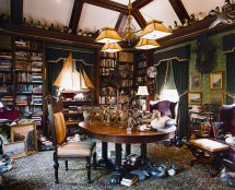 Old English Colonial Home Library