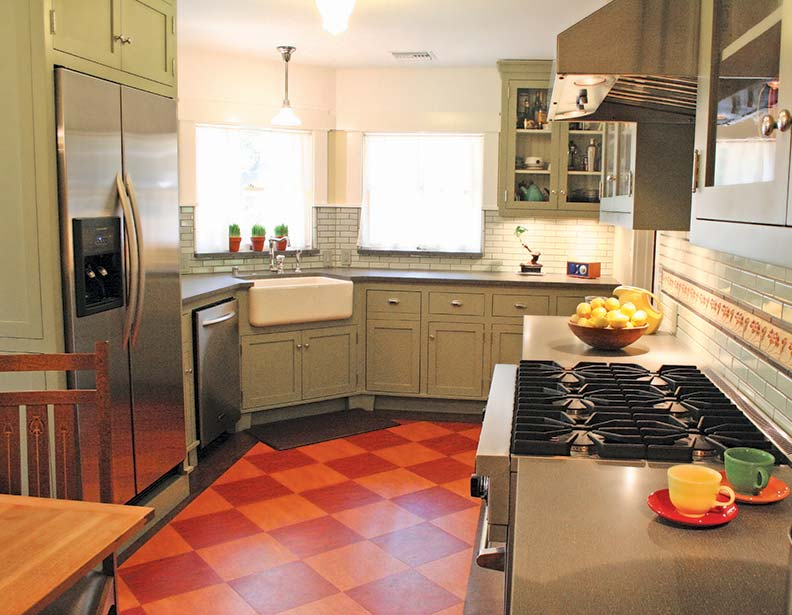 linoleum kitchen flooring english country pictures the best choices for old house kitchens journal checkerboard floor is a classic