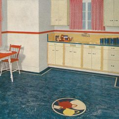 Kitchen Linoleum Movable Cabinets How To Inlay Floors Old House Journal Magazine