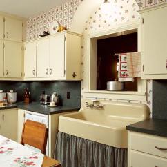 Wallpaper For Kitchen Pink Appliances Add Charm With Old House Journal Magazine The Fruit Cluster An Sherwin Williams Pattern Is Perfect