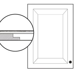 Cabinet Door Diagram 2000 Sportster 1200 Wiring One Day Project Install Glass Fronts Old House Journal Panel Inset On