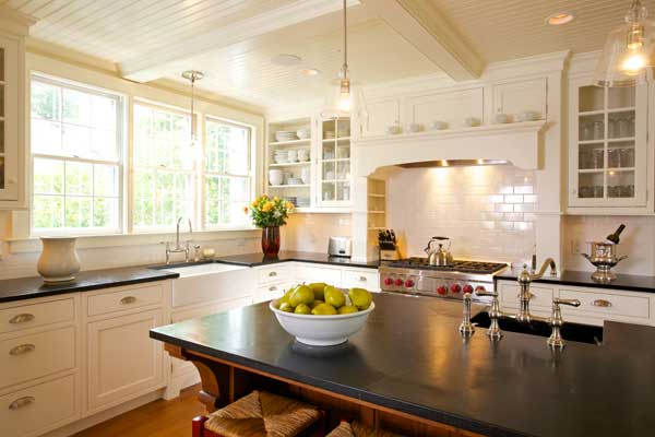 New Classic Kitchen in a Cape Cod Federal  Restoration