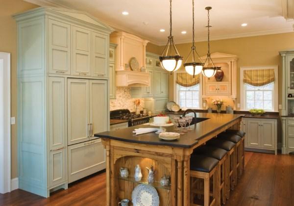 Antique Green Kitchen Cabinets