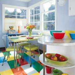Linoleum Kitchen Flooring Free Standing Islands With Seating Ideas For Floors Tile More Old House Journal The Owner Of A 1947 Mid Century Cottage Painted And Then Varnished Her