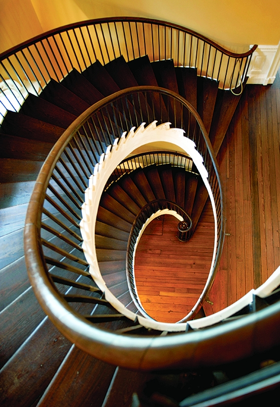 Early Staircases Winder Box Spiral Old House Journal Magazine | Half Round Stairs Design | Half Circle Staircase | Frame | Plan | Metal | Indian Style