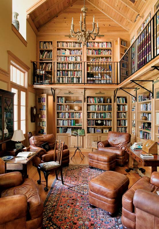 Images of Colonial Style Home Libraries