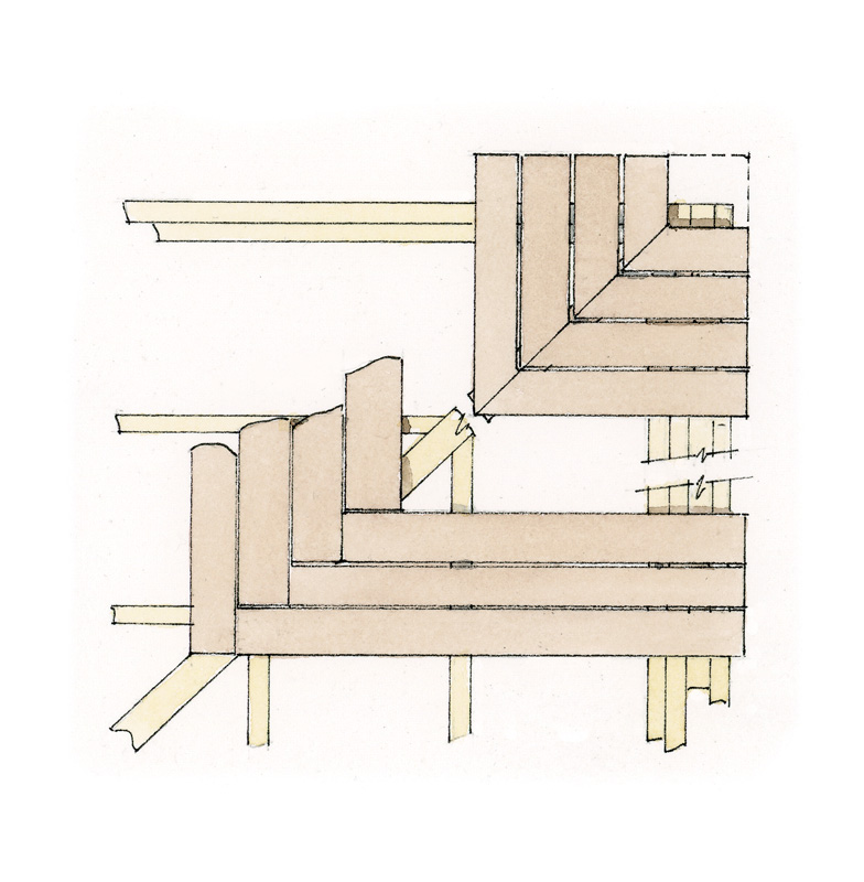 hight resolution of miter joints ringbone joints