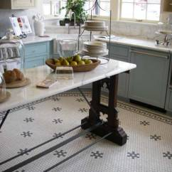 Kitchen Tile Floors Narrow Sink Today S Use Of In Classic Kitchens Old House Journal Magazine Hexagon Shaped Tiles Have Become A Suitable For Houses From Colonial Revival To