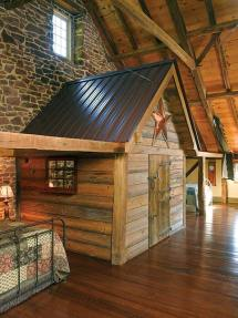 Metal Barn House Loft
