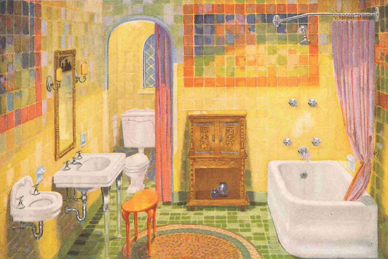 Guide To 20th Century Bathroom Tile Old House Journal