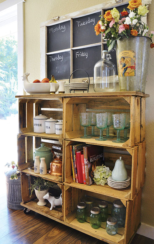 Make Shelves Out of Wooden Crates  Restoration  Design