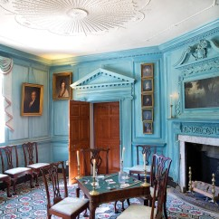 House Of Turquoise Living Room Furniture Set In Ghana Authentic Colonial Colors Old Journal Magazine The West Parlor At Washington S Mount Vernon Was First Painted An Eye Popping Prussian Blue