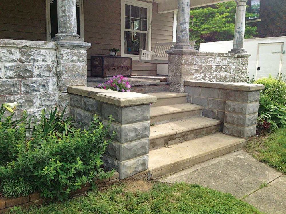 medium resolution of reproductions of early 20th century rock face block designs are available for repair or