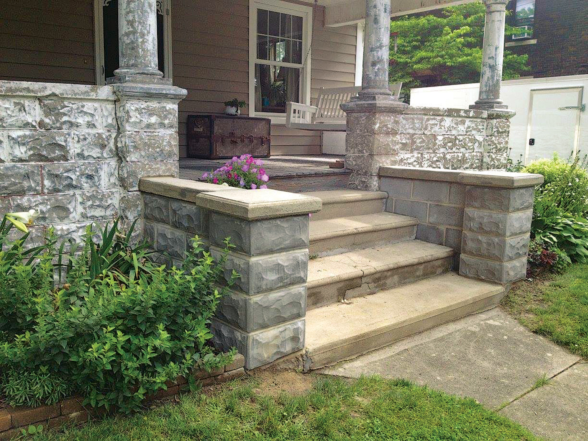 hight resolution of reproductions of early 20th century rock face block designs are available for repair or
