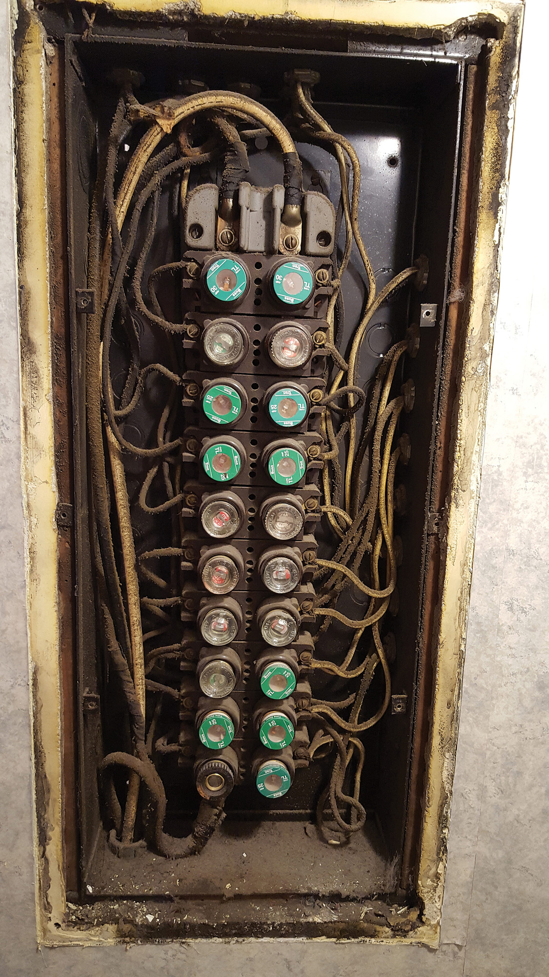 home fuse box wiring diagram time clock diagrams clicks 1950 electrical