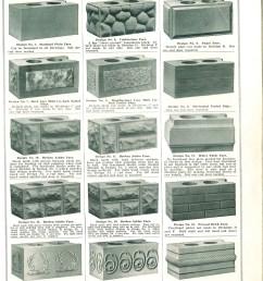 original patterns for rusticated brick sold through a ca 1908 sears roebuck catalog [ 928 x 1200 Pixel ]