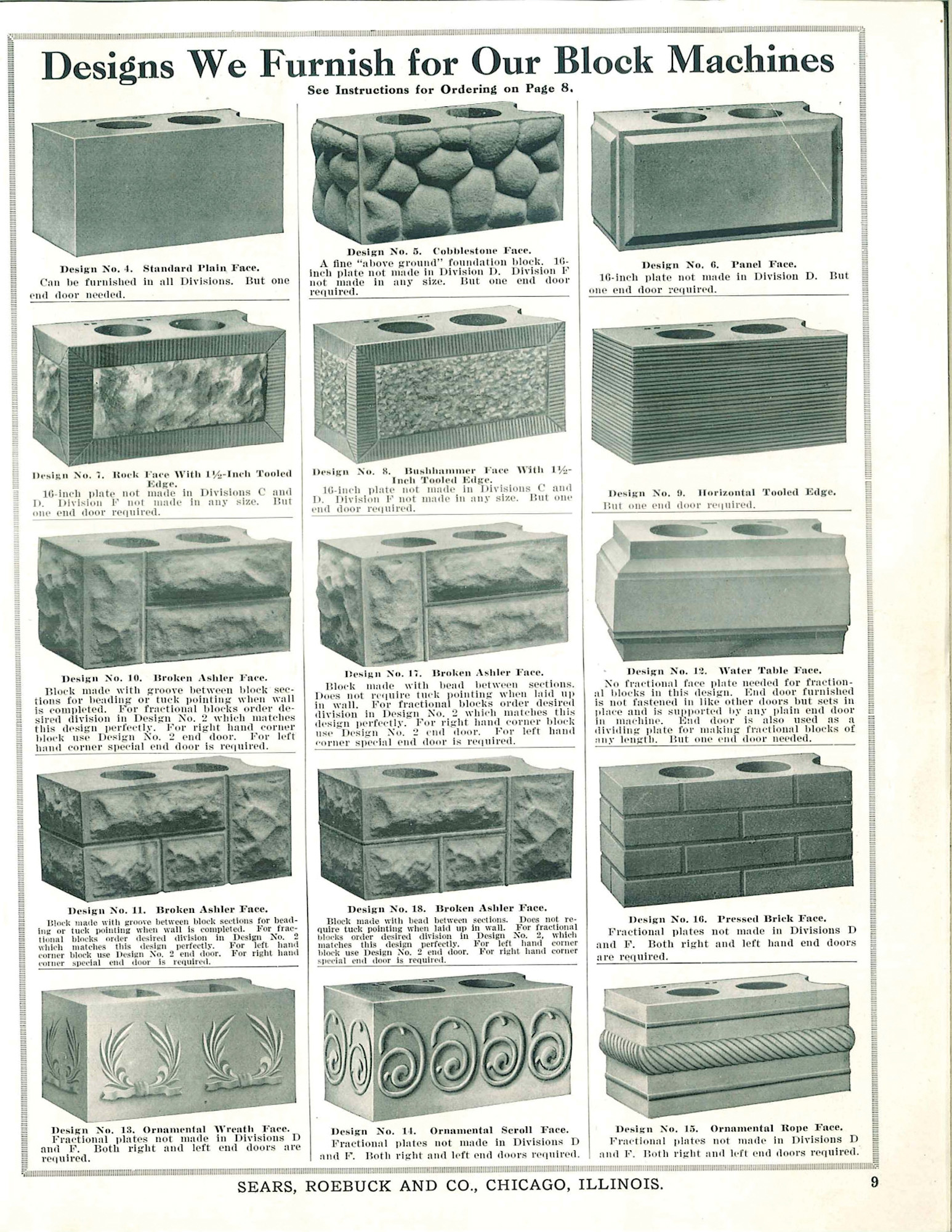 hight resolution of original patterns for rusticated brick sold through a ca 1908 sears roebuck catalog