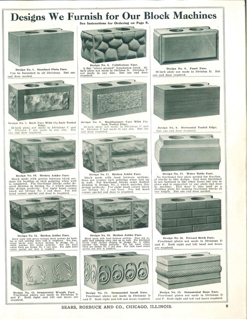 small resolution of original patterns for rusticated brick sold through a ca 1908 sears roebuck catalog