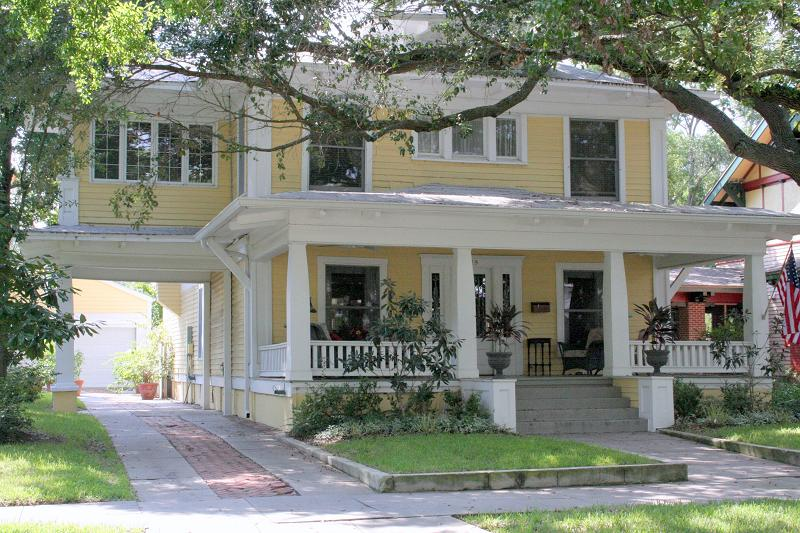 1917 Craftsman Foursquare in Tampa Florida  OldHousescom