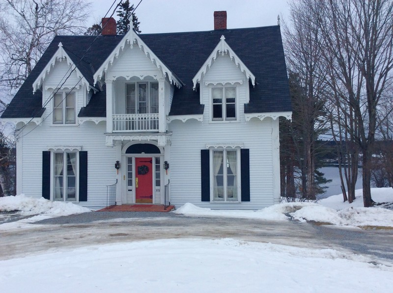 1855 Gothic Revival in Calais Maine  OldHousescom