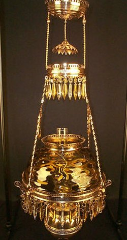 Chandeliers Hanging Library Oil Lamp  Old House Web