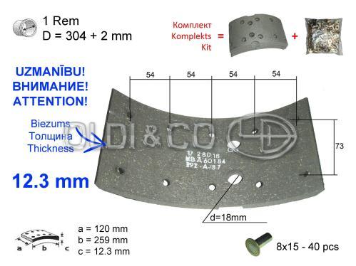 small resolution of 11 037 09516 details of brake system brake lining kit brem u sist mas deta as
