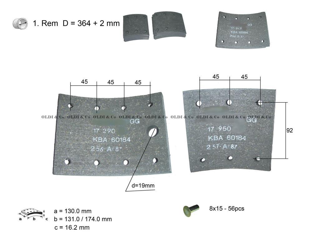 medium resolution of 11 037 09519 details of brake system brake lining kit brem u sist mas deta as