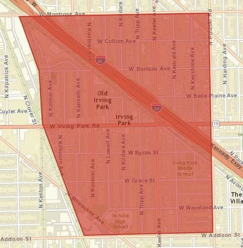 Old Irving Park Neighborhood Boundaries