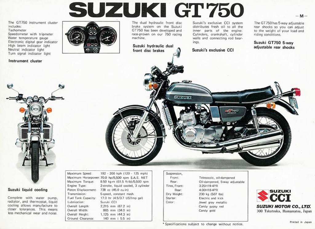 A Field Guide to the Suzuki GT750