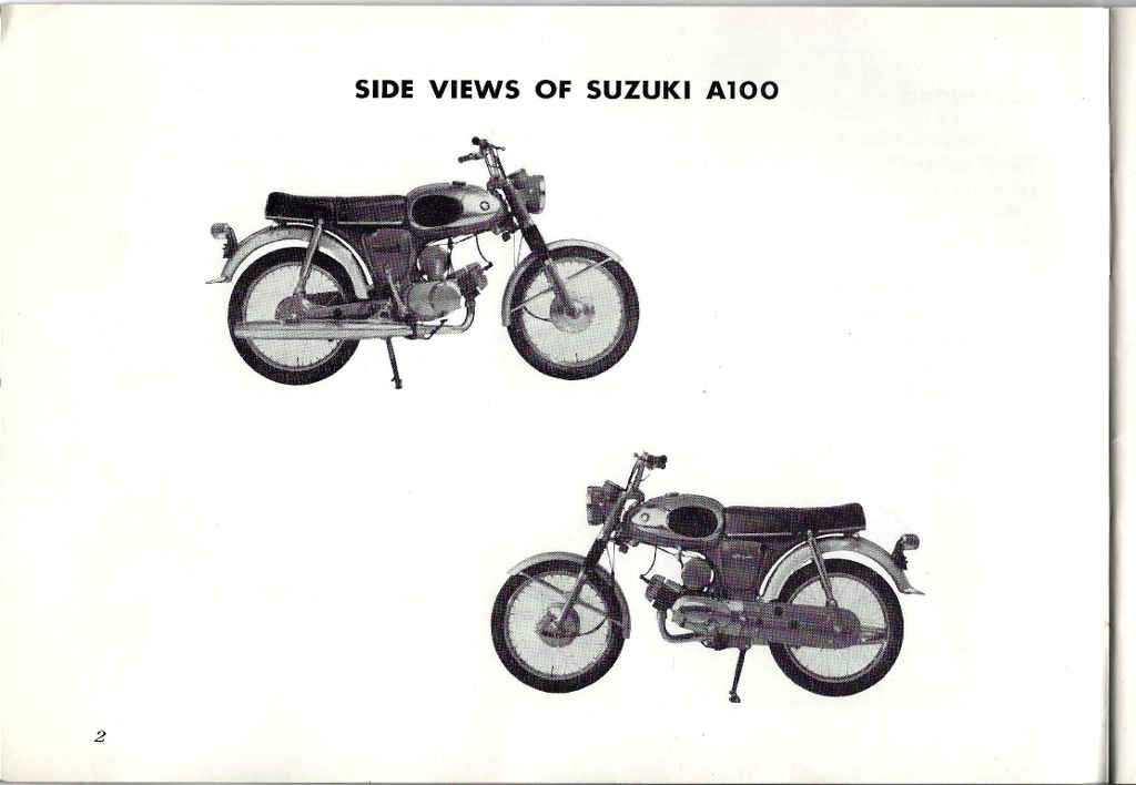 Suzuki A100 Owner's Manual