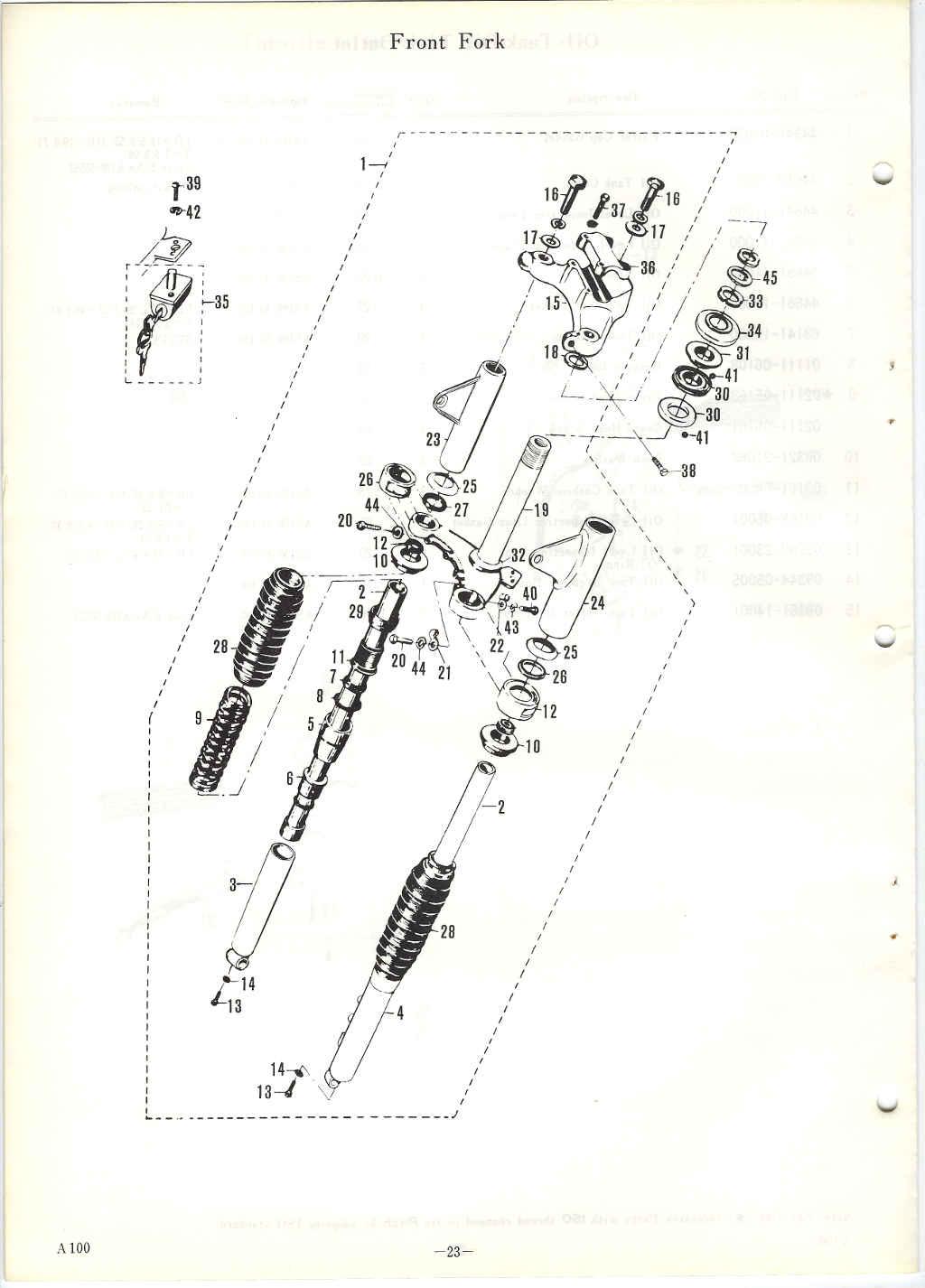 Suzuki A100 Parts Manual