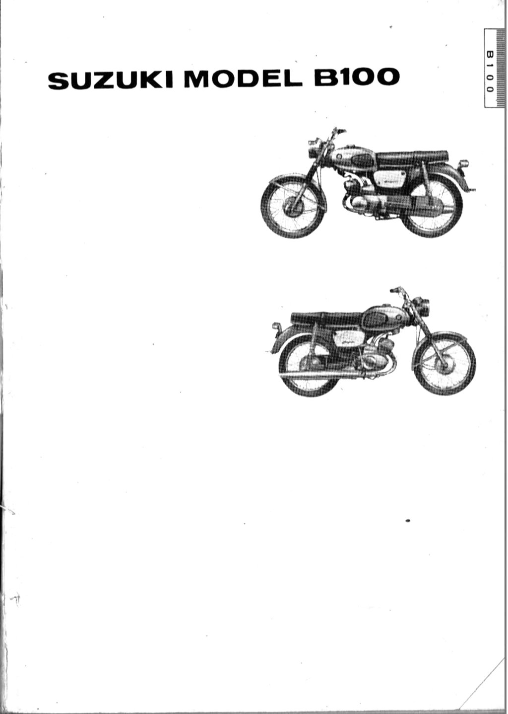 Suzuki B100, B100P and B105P Parts Manual