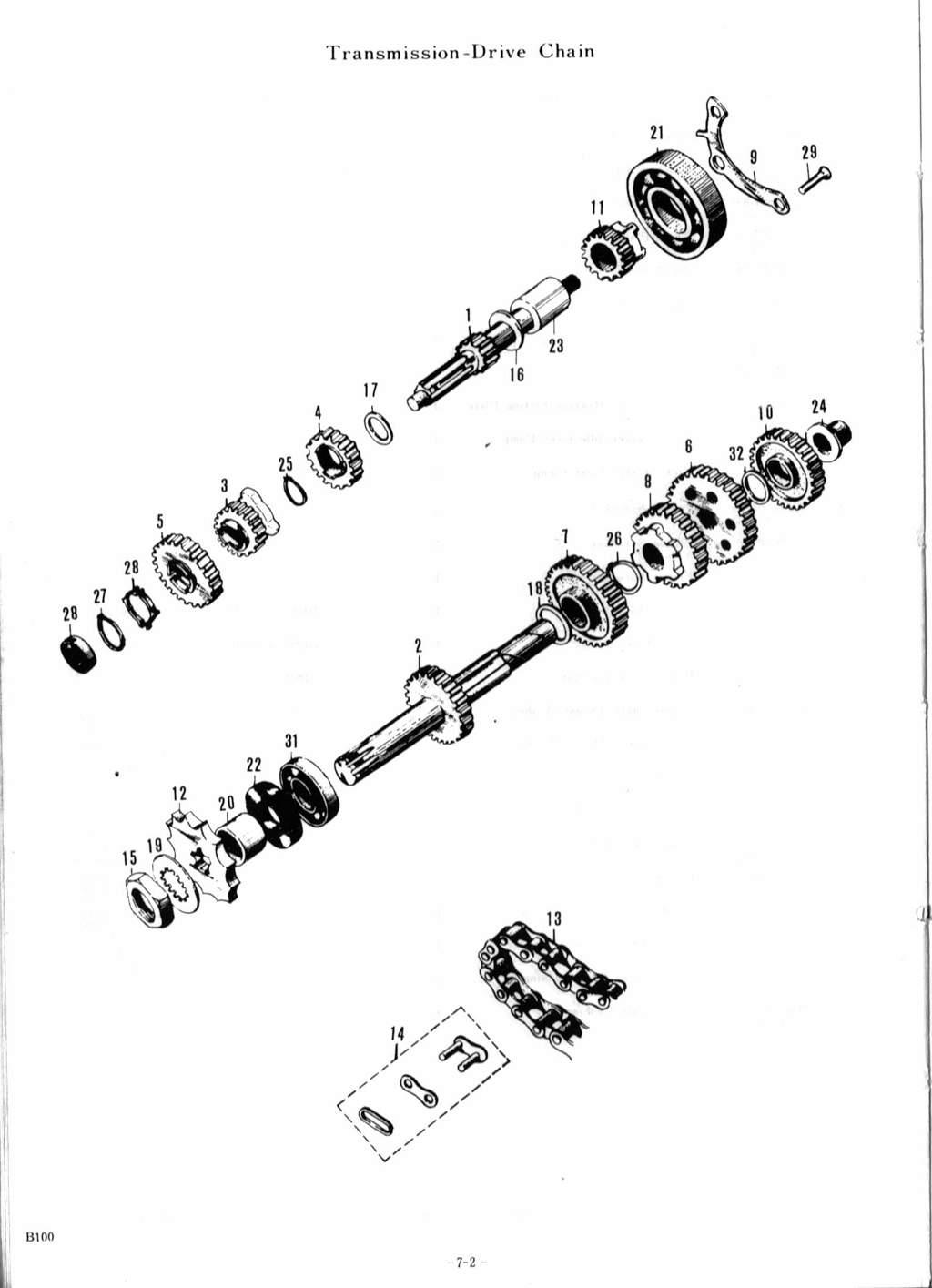 Suzuki B100, B100P and B105P Parts Manual