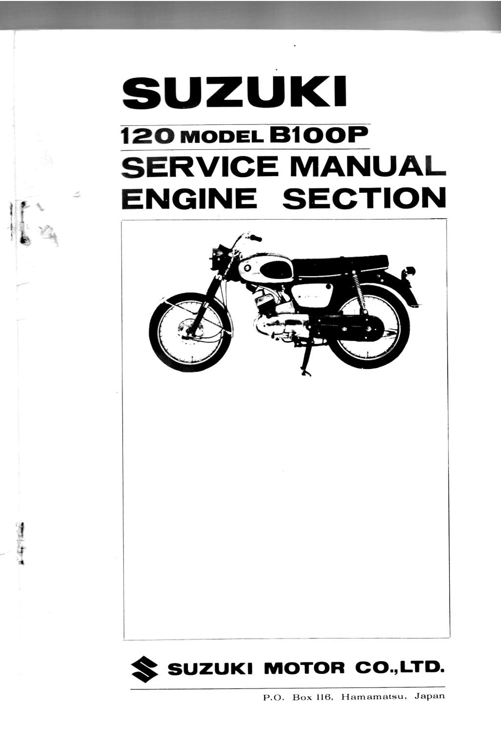Suzuki B100, B100P and B105P Service Manual