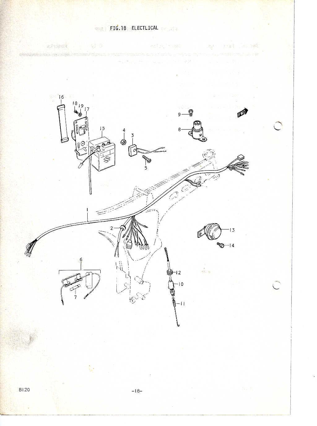 Suzuki B120 Parts Manual
