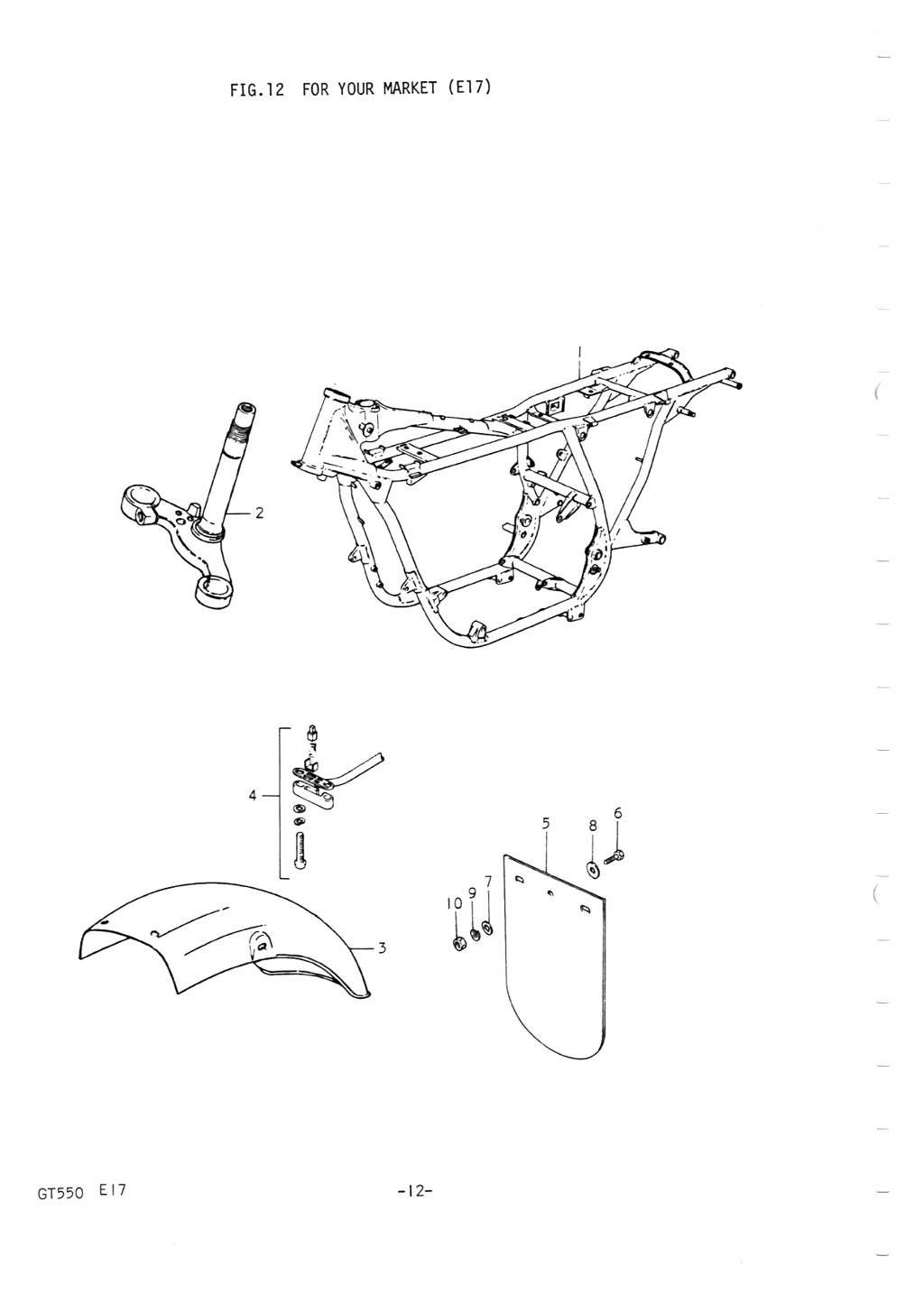 GT550 Country Specific Parts Lists