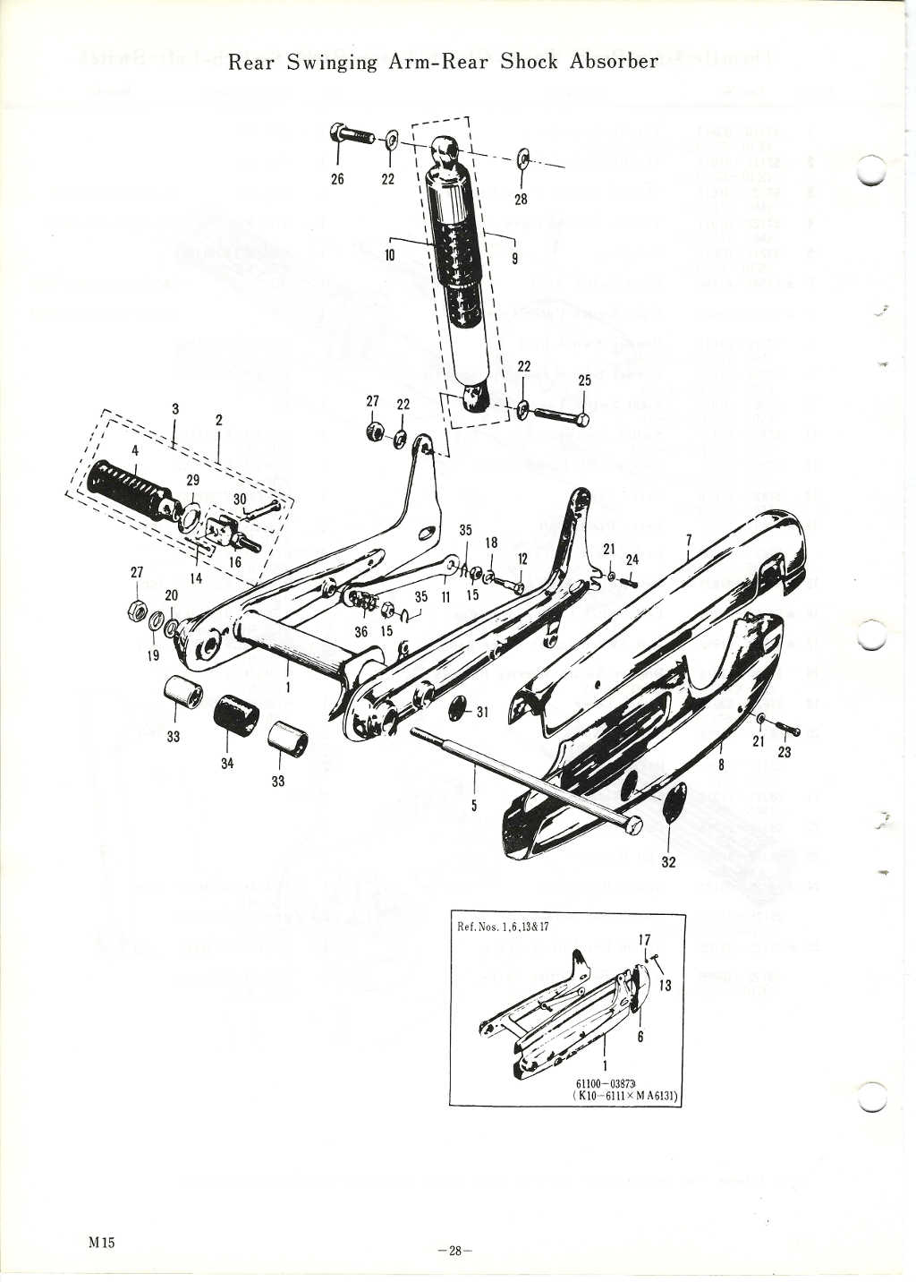 M15/M15D/M12 Parts Manual