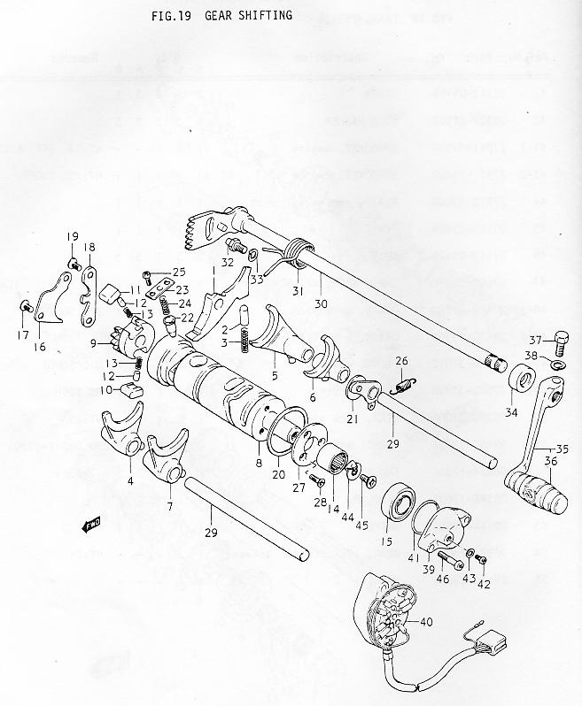 Suzuki GT380 Parts Manual