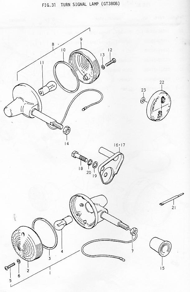 Suzuki GT380 Parts Manual