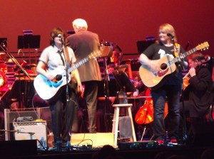 The INDIGO GIRLS as seen from the Left Orchestra, Seat O1.