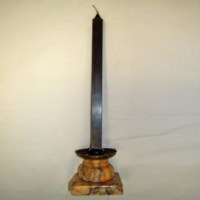 Alabaster candle holder - Old Lamps & Things, LLC