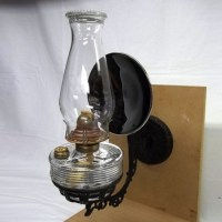 Glass kerosene lamp and rare bracket
