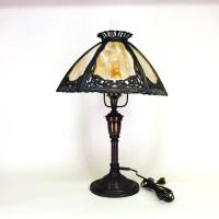 Bradley & Hubbard slag glass table lamp - Old Lamps ...