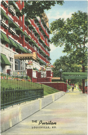 Vintage Post Cards of Old Louisville  Fourth Avenue at Ormsby  The Puritan